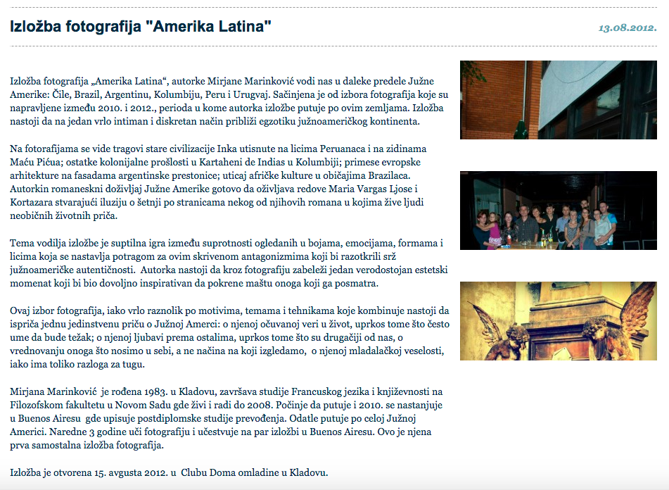 Photo exibition Amerika Latina